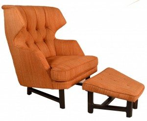 Edward Wormley for Dunbar Chair and Ottoman