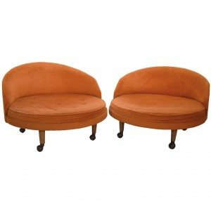 Adrian Pearsall for Craft Associates large disk lounge chairs
