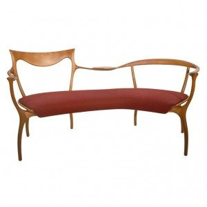 talian Handcrafted Wood Bench designed by Roberto Lazzeroni