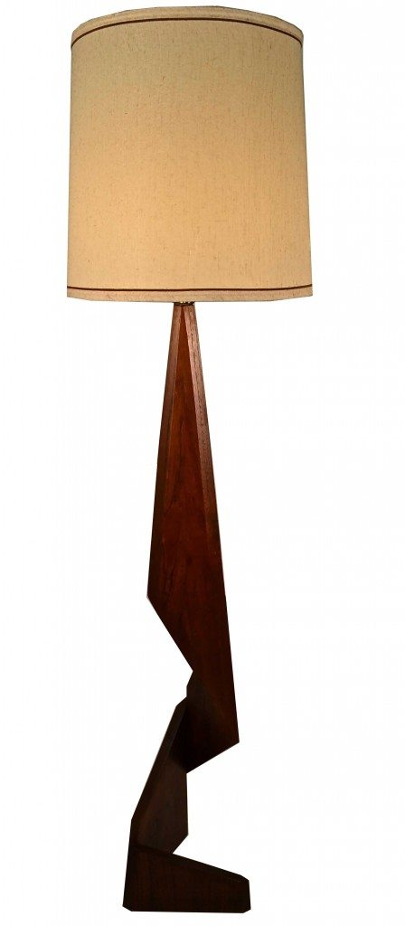 Floor lamps barbarella home barbarella home asymmetrical modernist teak floor lamp mozeypictures Choice Image
