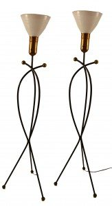 Pair of Floor Lamps after Jean Royere