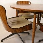 zebra wood chairs with John stuart table